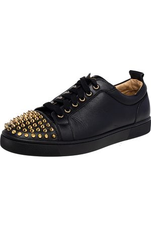 Christian Louboutin Leather Louis Junior Spike Low Top Sneakers Size 42