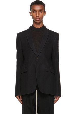 Rick Owens Men Blazers - Black Wool Soft Soft Blazer