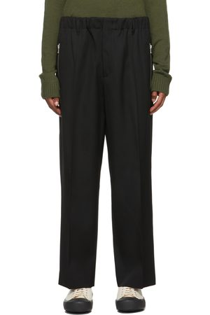 Jil Sander Black Gabardine Tapered Trousers