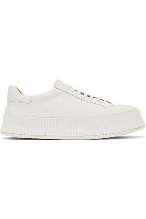 Jil Sander Women Platform Sneakers - White Platform Sneakers