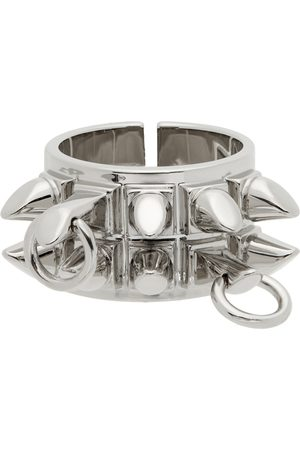 Givenchy Men Rings - Silver G Stud Ring