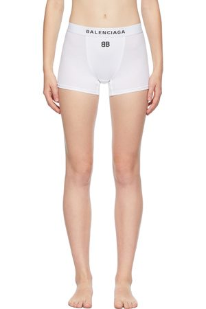 Balenciaga Men Boxer Shorts - White Logo Sports Boy Shorts