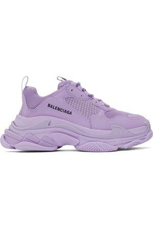 Balenciaga Men Sneakers - Purple Triple S Sneakers