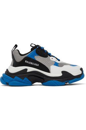 Balenciaga Men Sneakers - Blue & Black Triple S Sneakers