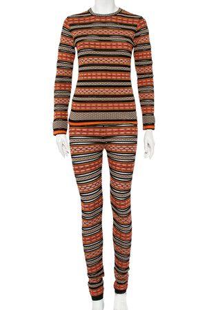 M Missoni Patterned Knit Long Sleeve Sheer Top & Leggings M