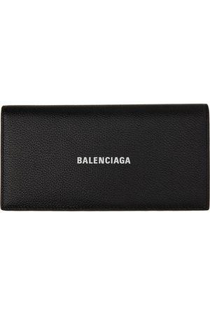 Balenciaga Men Wallets - Black Long Cash Bifold Wallet