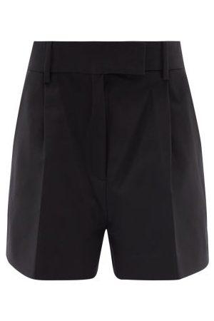 Khaite Maarte High-rise Cotton-twill Wide-leg Shorts - Womens