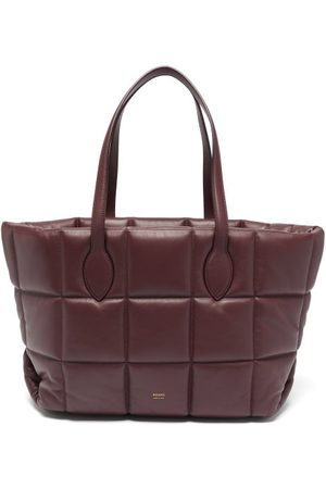 Khaite Women Clutches - Florence Quilted Leather Tote Bag - Womens - Burgundy