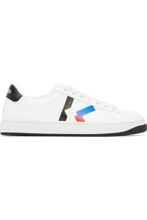 Kenzo Men Sneakers - White & Blue K-Logo Kourt Sneakers
