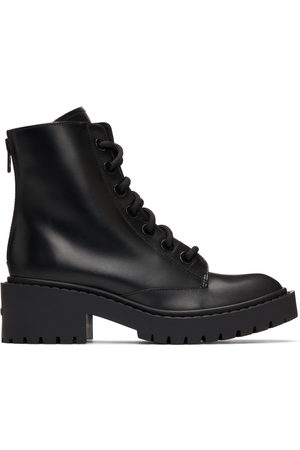 Kenzo Women Lace-up Boots - Black Pike Lace-Up Boots