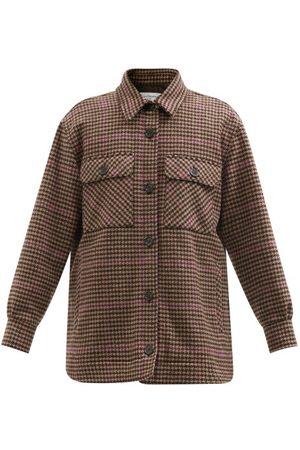 OFFICINE GENERALE Petra Houndstooth Wool Shirt Jacket - Womens - Multi