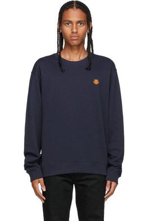 Kenzo Navy Tiger Crest Classic Sweatshirt