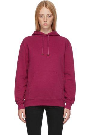 Saint Laurent Women Hoodies - Pink Rive Gauche Hoodie