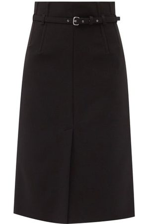 RED Valentino Women Midi Skirts - Belted Cady A-line Midi Skirt - Womens
