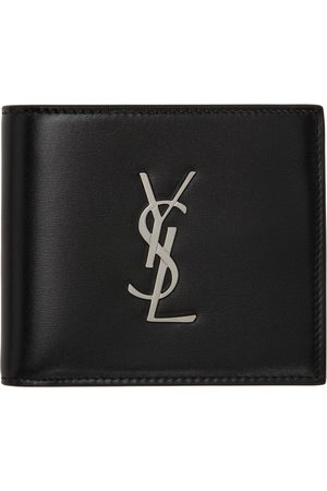 Saint Laurent Men Wallets - Black Monogram East/West Wallet