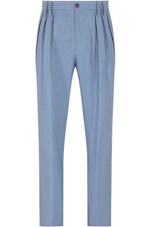 Dolce & Gabbana Men Straight Leg Pants - Pleat-detail straight-leg trousers