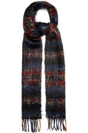 Saint Laurent Check Brushed Mohair-blend Tweed Scarf - Mens - Multi
