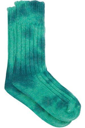 THE ELDER STATESMAN Men Socks - Hot Yosemite Tie-dye Cashmere Socks - Mens - Multi