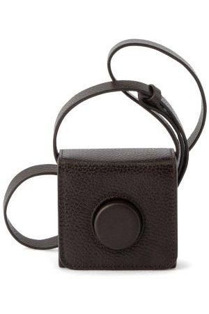 LEMAIRE Camera Mini Leather Cross-body Bag - Womens - Dark