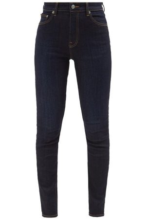 BROCK COLLECTION James High-rise Slim-leg Jeans - Womens - Navy