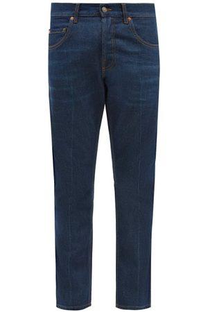 Gucci Men Straight - Ciel De Nuit-embroidered Straight-leg Jeans - Mens