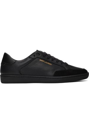 Saint Laurent Black Perforated Leather Court Classic SL/10 Sneakers