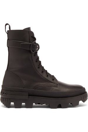 Moncler Carinne Lace-up Leather Boots - Womens