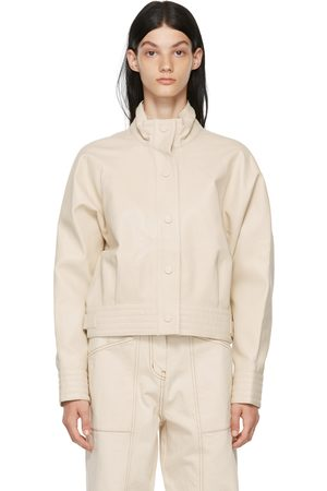 LVIR Off-White Faux-Leather Jacket