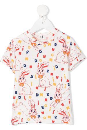 Mini Rodini T-shirts - Rabbit-print T-shirt