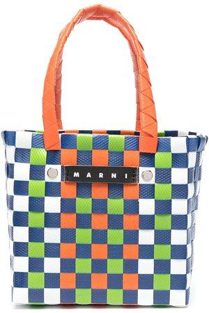 Marni Girls Bags - Logo woven top-handle tote