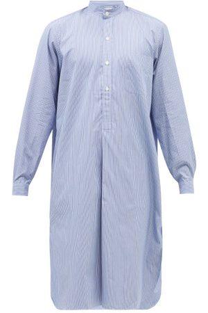 Charvet Men Sweats - Stand-collar Striped Cotton-poplin Tunic - Mens