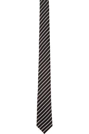 Saint Laurent Men Neckties - Black & White Stripe Tie