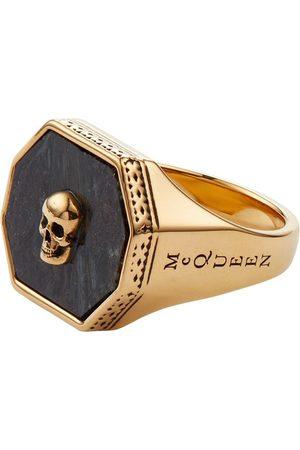 Alexander McQueen Men Rings - Skull signet ring