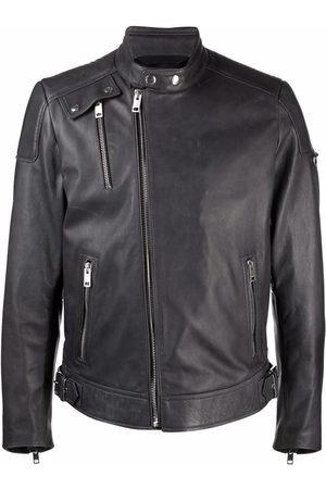 Diesel Men Leather Jackets - Leather biker jacket