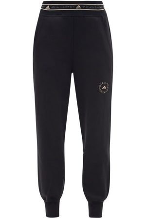 adidas Women Sweatpants - Logo-jacquard Organic Cotton-blend Sweatpants - Womens