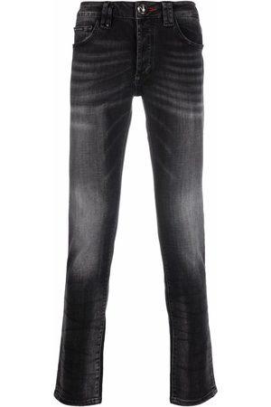 Philipp Plein Men Straight - Straight-cut denim jeans - Grey
