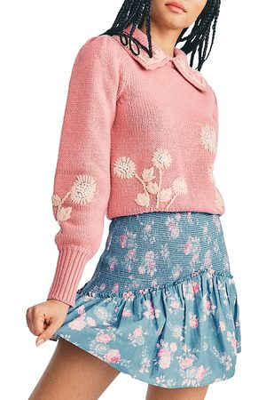 LOVESHACKFANCY Anguilla Printed Smocked Skirt