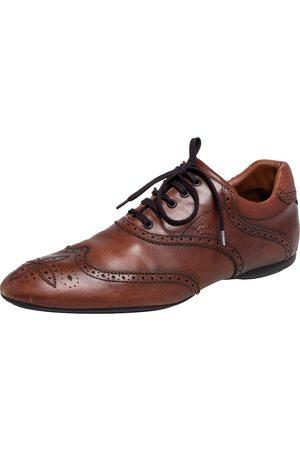 LOUIS VUITTON Brogue Leather Derby Size 44.5