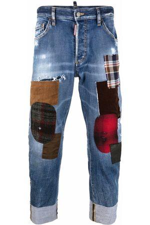 Dsquared2 Men Jeans - Patchwork-detail cropped jeans