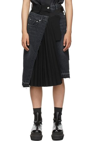SACAI Denim Suiting Skirt