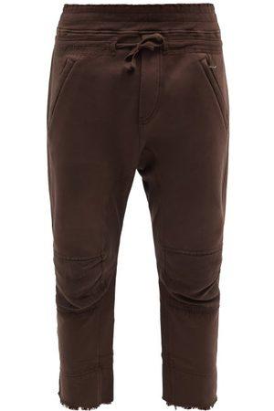 Haider Ackermann Men Sweatpants - Distressed Cotton-jersey Cropped Track Pants - Mens