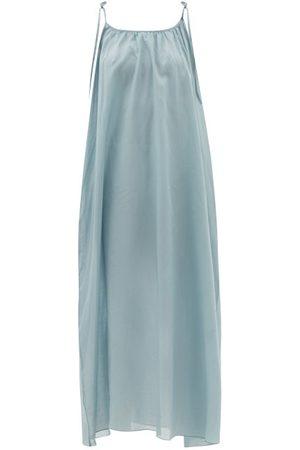 Loup Charmant Tie-shoulder Organic-cotton Voile Slip Dress - Womens