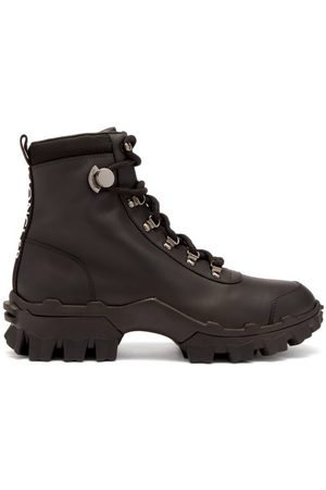 Moncler Women Lace-up Boots - Helis Lace-up Leather Hiking Boots - Womens