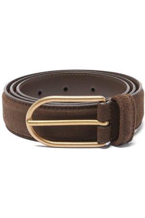 Anderson's Men Belts - Suede Belt - Mens - Dark
