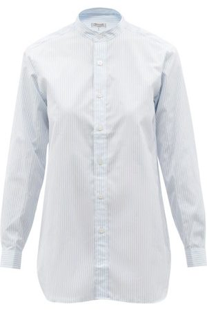 Charvet Stand-collar Striped Cotton-poplin Shirt - Womens - Stripe
