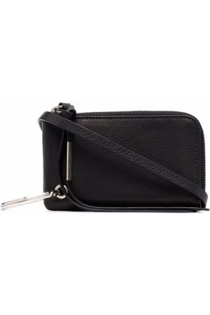 ANN DEMEULEMEESTER Ring-detail leather wallet