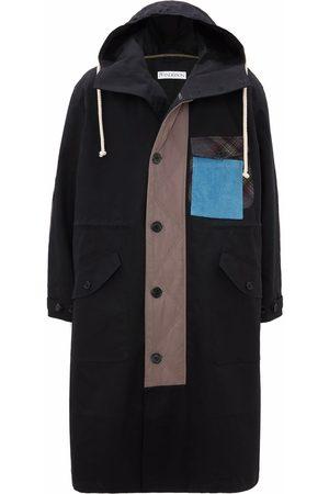 J.W.Anderson Men Parkas - Patch-detail long parka coat
