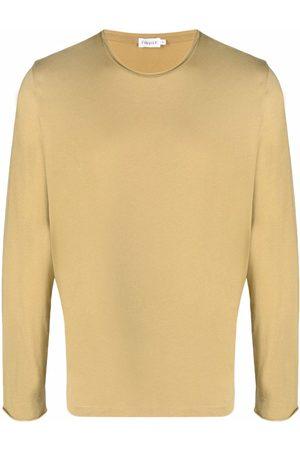 Filippa K Men Long Sleeve - Rolled-trim longsleeved top - Neutrals