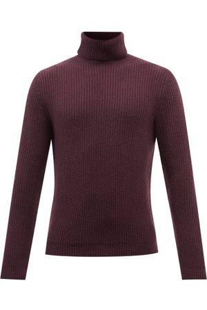 Iris von Arnim Lio Roll-neck Ribbed-cashmere Sweater - Mens - Dark