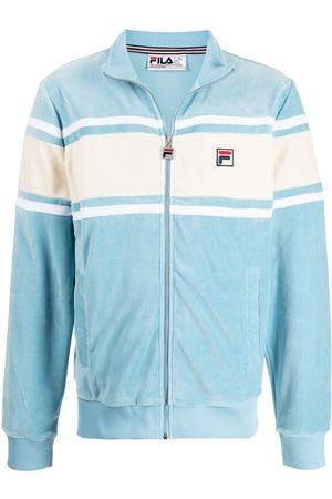 Fila Men Bomber Jackets - Two-tone velvet bomber jacket
